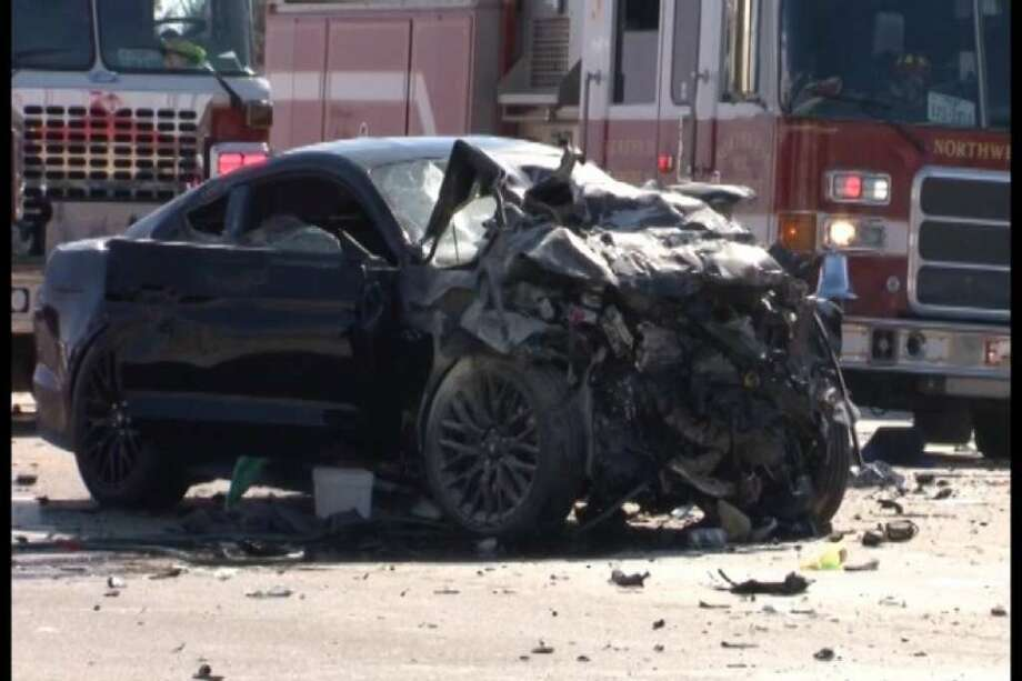 Two people died in a suspected street racing crash along Texas 249 on Dec. 25, 2017. Photo: Scott Engle/Montgomery County Police Reporter