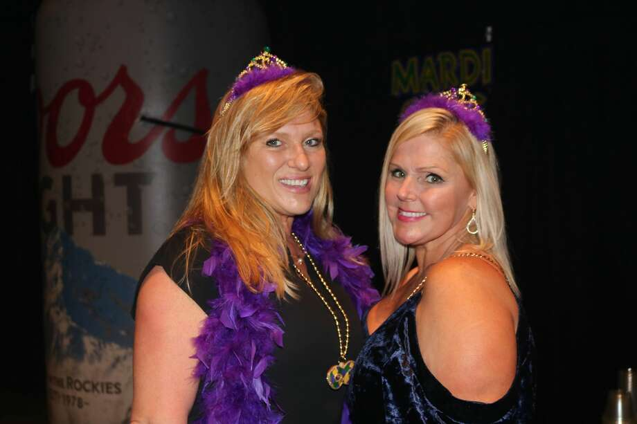 Tamara Beard and Clare Stoever were at the fourth annual Pardi Gras event Saturday night at the Beaumont Civic Center. Attendees get into the Mardi Gras spirit with gumbo, drinks, and music from Champagne Room at the fourth annual Pardi Gras hosted by Southeast Texas Circle of Hope. Photo: Hannah LeTulle