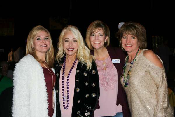 Crystal Segura, Rachel Carona, Misty Muse, and Ginger Provost were at the fourth annual Pardi Gras event Saturday night at the Beaumont Civic Center. Attendees get into the Mardi Gras spirit with gumbo, drinks, and music from Champagne Room at the fourth annual Pardi Gras hosted by Southeast Texas Circle of Hope.