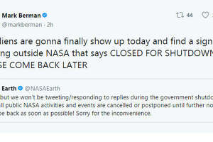 NASA is one of the many government departments and offices hit by the government shutdown.