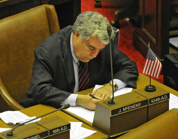 Assemblyman Jack McEneny during an assembly session in the Capitol in Albany, NY on May 10, 2010. (Lori Van Buren / Times Union) Photo: LORI VAN BUREN