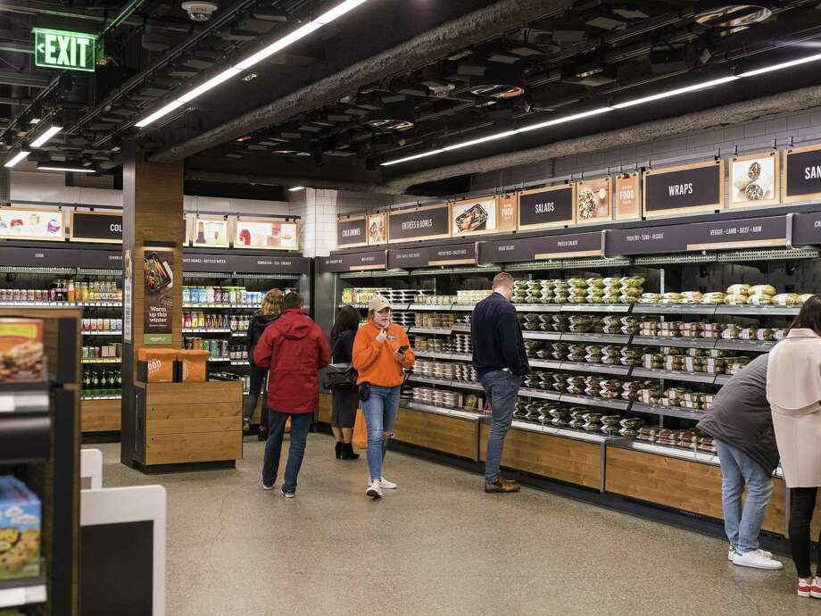 The Amazon Go store in Seattle, Jan. 16, 2018. The technology inside the new convenience store, opening Jan. 22, 2018 in Seattle, enables a shopping experience like no other, including no checkout lines. Photo: KYLE JOHNSON /NYT / NYTNS