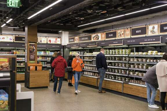 The Amazon Go store in Seattle, Jan. 16, 2018. The technology inside the new convenience store, opening Jan. 22, 2018 in Seattle, enables a shopping experience like no other, including no checkout lines.
