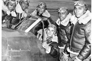 The Tuskegee Airmen flew with distinction during World War II as the 332nd Fighter Group of the US Army Air Corps.
