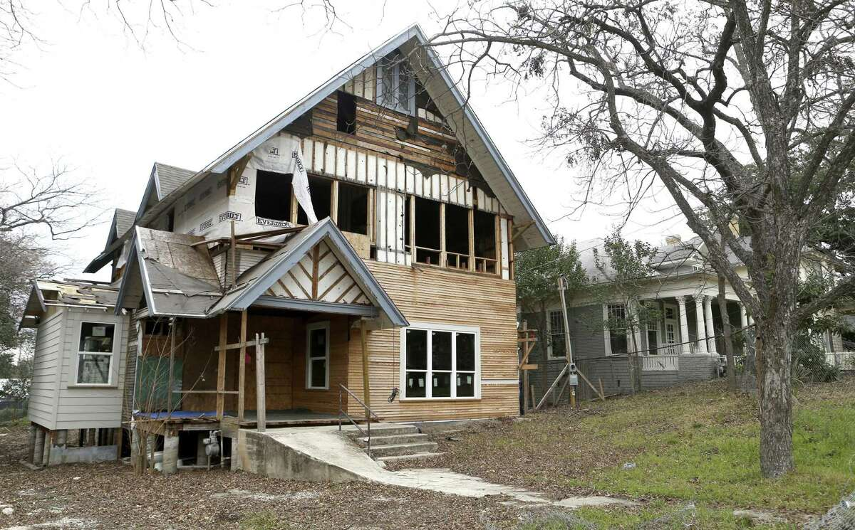 A traditional home in Westfort undergoes a renovation. The proposed historic district would only cover about 54 of the neighborhood's roughly 116 homes.