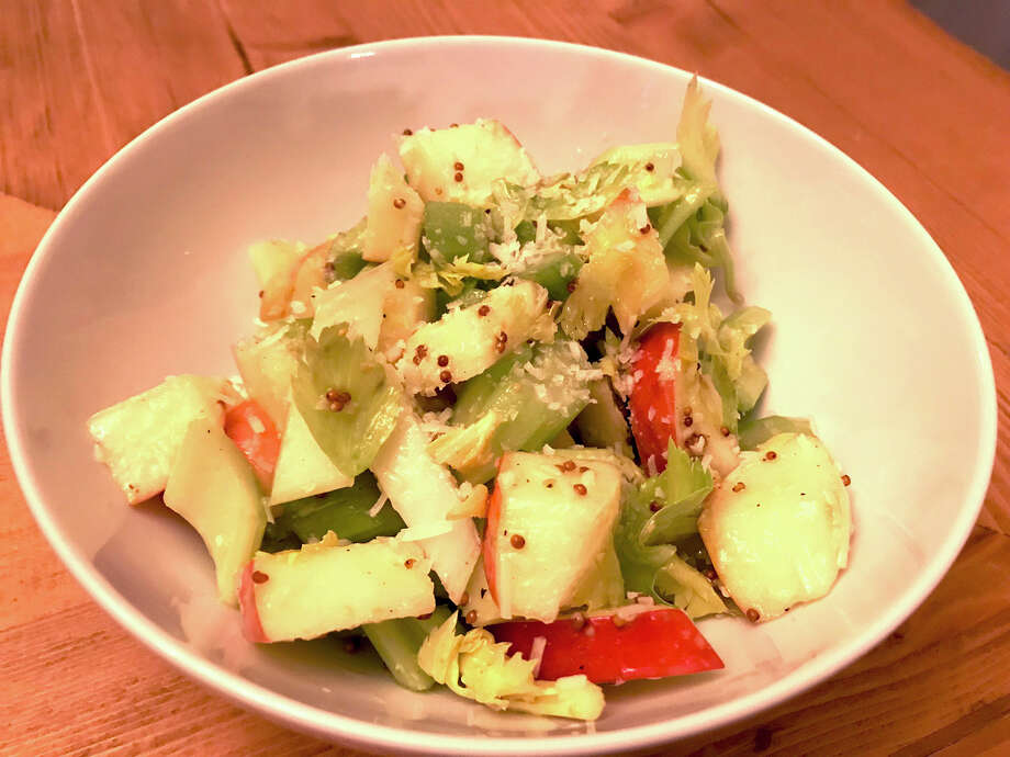 Celery and Apple Salad is a great way to take advantage of the winter apple bounty still in stores. Photo: Emily Spicer / San Antonio Express-News
