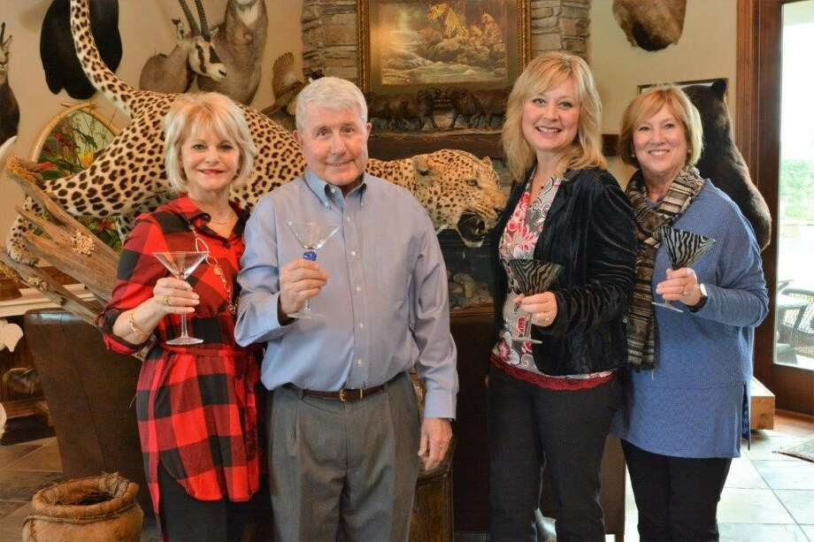 FRIENDS of Child Advocates of Fort Bend to Host Martini Night shown, from left, include Judy and Paul Maddison; Lisa Moore; and Peggy Jackson. Photo: Photo Courtesy Of Sue Lockwood