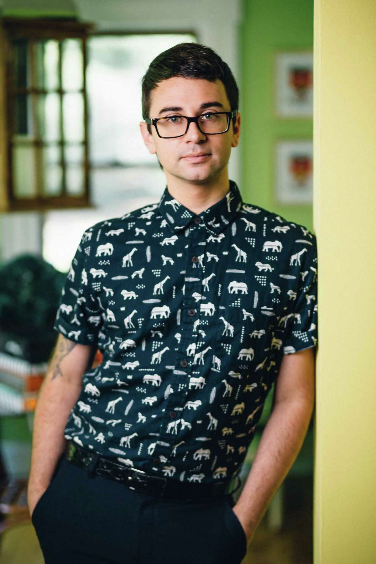 Fashion designer Christian Siriano inside of his Danbury home in 2016.