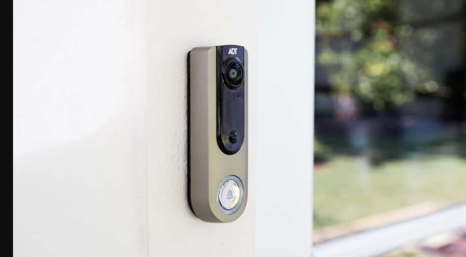 The ADT Video Doorbell can be controlled by an app. ( Photo: ADT) / The Washington Post