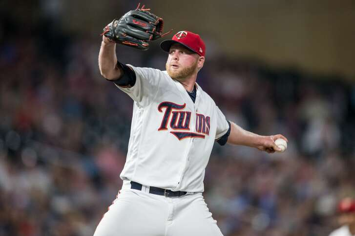 MINNEAPOLIS, MN - SEPTEMBER 14: Buddy Boshers #62 of the Minnesota Twins pitches against the Toronto Blue Jays on September 14, 2017 at Target Field in Minneapolis, Minnesota. The Twins defeated the Blue Jays 3-2. (Photo by Brace Hemmelgarn/Minnesota Twins/Getty Images)
