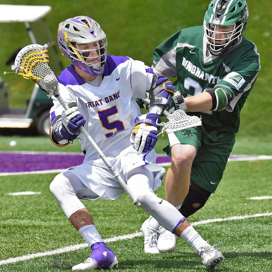 UAlbany's Connor Fields, who has 165 career goals, could become Division I's career leader this season. (John Carl D'Annibale/Times Union)