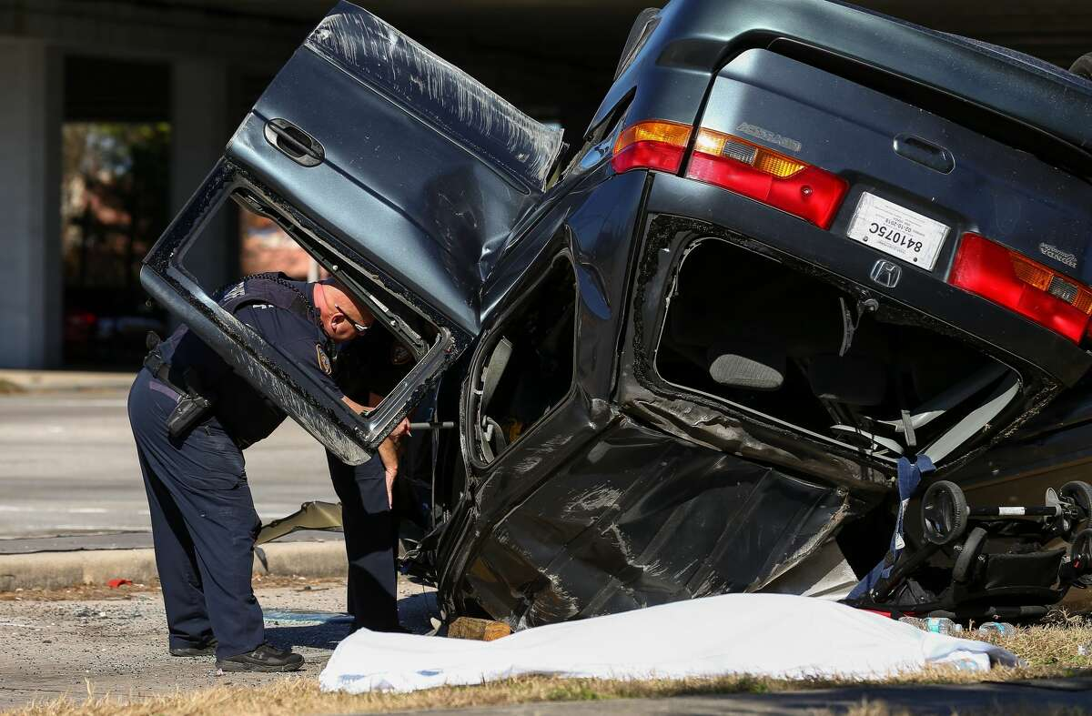 Harris County sheriff's deputies say two drivers died and three others were injured Monday afternoon in a wreck at Tomball Parkway and Grant Road.