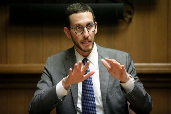 California State Senator Scott Wiener adddresses the SF Chronicle Editorial Board on Thursday, Jan. 18, 2018 in San Francisco, Calif.
