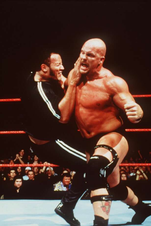"Then: ""Stone Cold"" Steve Austin in ""WWF Smackdown"" Photo: Getty Images"
