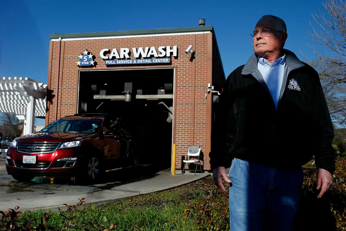 Bill Proestler, owner of the 5 Star Car Wash and Detail Center, Saturday, Jan. 20, 2018, in Fairfield, Calif.