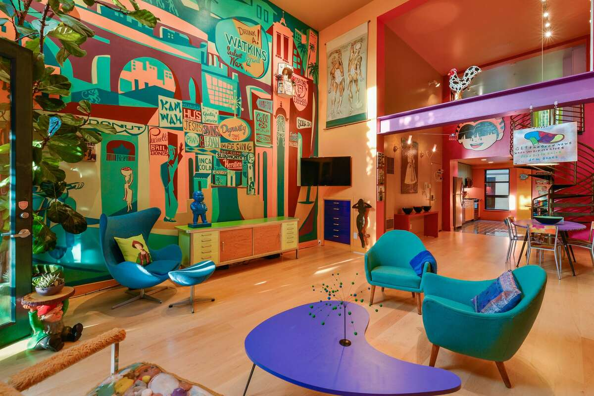 A fun, colorful loft loaded with artistic touches is on the market in San Francisco for $799,000.