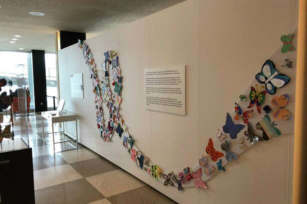 """The Holocaust Museum Houston's """"Butterfly Project,"""" which evolved over many years as children from six continents contributed 1.5 million works of handmade butterfly art to commemorate children who died during the Holocaust, is on view through Feb. 26 in the Visitors' Lobby of the United Nations Headquarters in New York."""