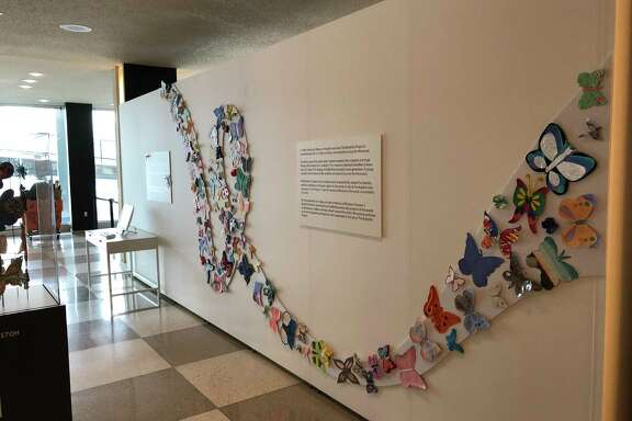 "The Holocaust Museum Houston's ""Butterfly Project,"" which evolved over many years as children from six continents contributed 1.5 million works of handmade butterfly art to commemorate children who died during the Holocaust, is on view through Feb. 26 in the Visitors' Lobby of the United Nations Headquarters in New York."