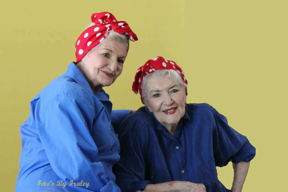 "In a photo provided by John D. Fraley, Naomi Parker Fraley, right, in September 2016 with her younger sister, Ada Wyn Parker Loy. Fraley, who died on Jan. 20, 2018, at age 96 in Longview, Wash., went unsung for seven decades before being identified as the real ""Rosie the Riveter"" the female war worker of 1940s popular culture who became a feminist touchstone in the late 20th century. Photo: JOHN D. FRALEY"