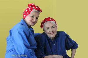 """In a photo provided by John D. Fraley, Naomi Parker Fraley, right, in September 2016 with her younger sister, Ada Wyn Parker Loy. Fraley, who died on Jan. 20, 2018, at age 96 in Longview, Wash., went unsung for seven decades before being identified as the real """"Rosie the Riveter"""" the female war worker of 1940s popular culture who became a feminist touchstone in the late 20th century."""