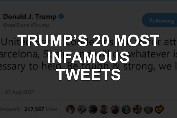 Click through the slideshow to see 20 of Trump's most popular—and infamous—tweets during his first year in office.