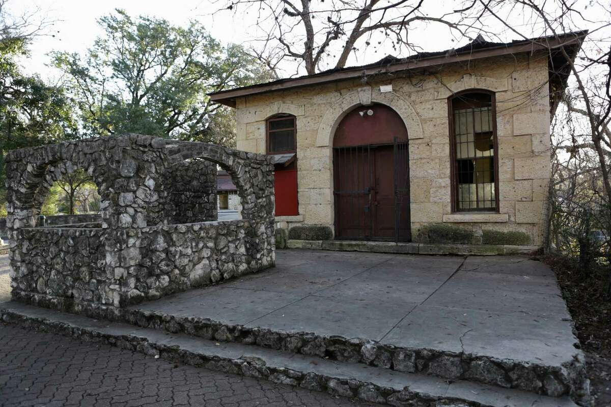 The San Antonio Conservation Society, as part of the city's 300th brithday celebration, will help pay for the restoration of the old Pump House No. 1 at Brackenridge Park. It was built with large blocks of limestone.