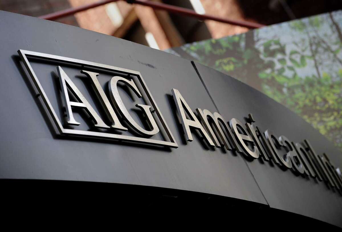 (FILES): This September 17, 2008 file photo shows the logo of American International Group Inc. outside their office in the lower Manhattan area of New York. The US government early on November 10, 2008 announced the restructuring of the government's 85-billion-dollar financial aid package that was given to insurer American International Group in September. Under the restructuring, the US Treasury will purchase 40 billion dollars of newly issued AIG preferred shares under the Troubled Asset Relief Program. This purchase will allow the Federal Reserve to reduce from 85 billion dollars to 60 billion dollars the total amount available under the credit facility established by the Federal Reserve Bank of New York on September 16, 2008, said a joint statement issued by the US Treasury Department and the Federal Reserve. AFP PHOTO / Files / Stan HONDA (Photo credit should read STAN HONDA/AFP/Getty Images)