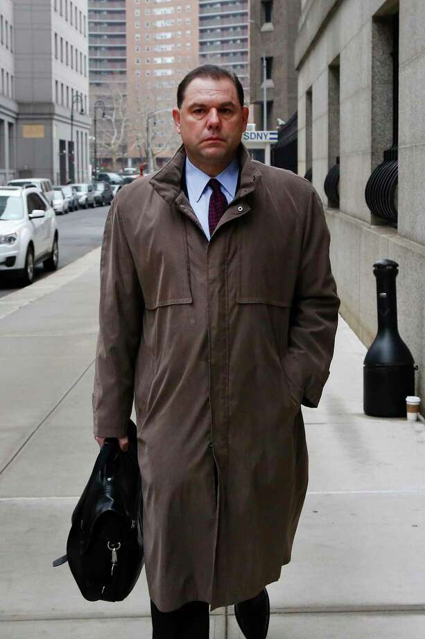 Joseph Percoco, a former aide and confidant to New York Gov. Andrew Cuomo, arrives for jury selection in his trial, Monday, Jan. 22, 2018, in New York. He faces federal charges that he used that relationship to collect a fortune in bribes from two companies doing business with the state. (AP Photo/Mark Lennihan) Photo: Mark Lennihan / Copyright 2018 The Associated Press. All rights reserved.