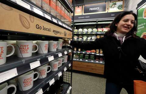 Someone did shoplift from Amazon Go on the first day - SFGate