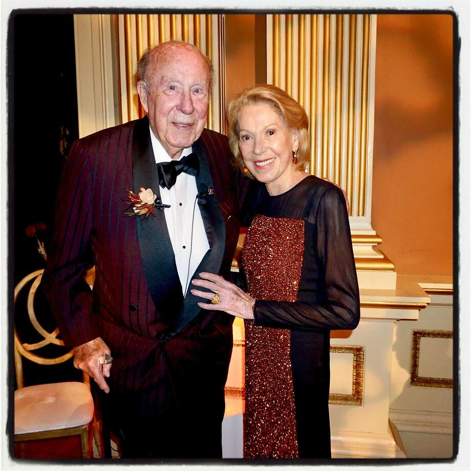 Former Secretary of State George Shultz and his wife, Protocol Chief Charlotte Shultz, at the Old Mint gala Jan. 13, 2018. Photo: Catherine Bigelow, Special To The Chronicle