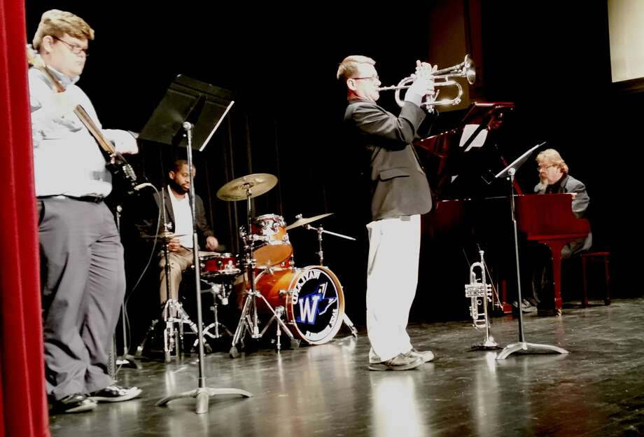 "Plainview Jazz with Wiley Hawkins on bass, Anthony King on percussion, Scott Strovas on trumpet and David Hawkins on piano will present January Jazz: An Evening with Duke, Harry and Friends""  at 7 p.m. Thursday, Jan. 25, at the Fair Theatre. Photo: Gail William/Herald Correspondent"