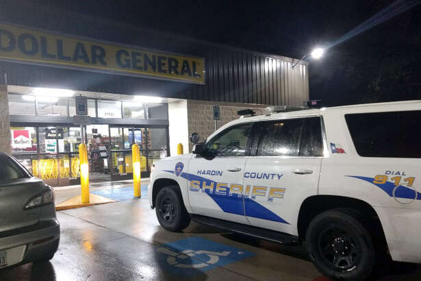 Hardin County sheriff's deputies respond to an armed robbery report Sunday night just before 10 p.m. at the Dollar General in Batson.