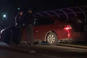 Two people were hospitalized after a road rage incident in south Houston ended with shots being fired early Tuesday morning, Houston Police said. The incident started after two groups were leaving an unnamed club near the Southwest Freeway and Old Spanish Trail around 5 a.m., police said. Some time after, police said there was a road rage incident that caused one car to crash on the Southmore Boulevard overpass.