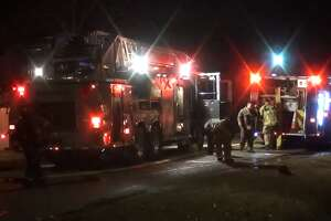 A family and their baby escaped from their burning, north Houston home early Tuesday, Houston Fire Department officials said. Firefighters were called around 1:30 a.m. to a house on East Sunnyside Street and O'Donnell Drive. There, they found heavy smoke coming from a one-story home.
