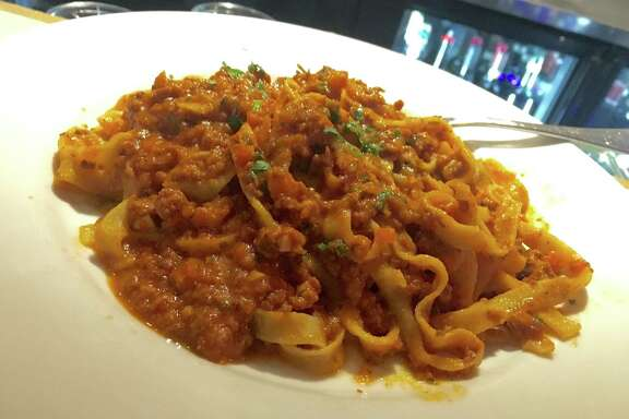 Tagliatelle alla Bolognese at Giacomo's Cibo e Vino is made with flat ribbons of tagliatelle made in-house.