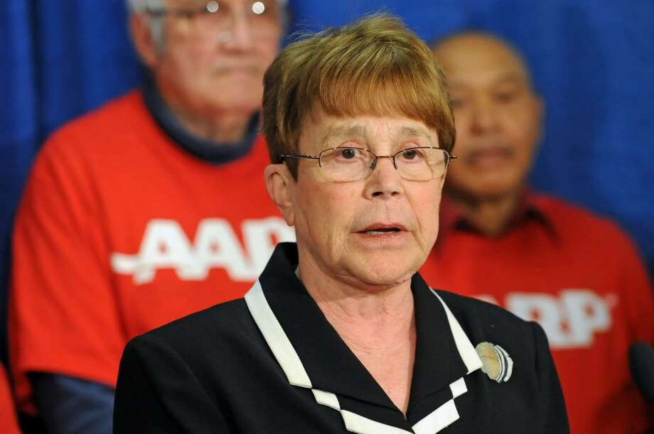 New York state Sen. Susan Oppenheimer speaks during a news conference to announce Complete Streets and Smart Growth Agendas for New York State at the LOB in Albany, NY on May 10, 2010. (Lori Van Buren / Times Union) Photo: LORI VAN BUREN