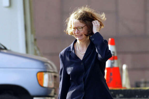US District Judge Melinda Harmon arrives at the federal courthouse in Houston, Texas, for the beginning of the third week in the Arthur Andersen trial on Monday, May 20, 2002. Photographer: Craig Hartley/Bloomberg News