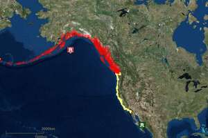 A 7.9-magnitude earthquake Tuesday morning in the Gulf of Alaska caused a tsunami watch in California but presented no real danger, officials said.