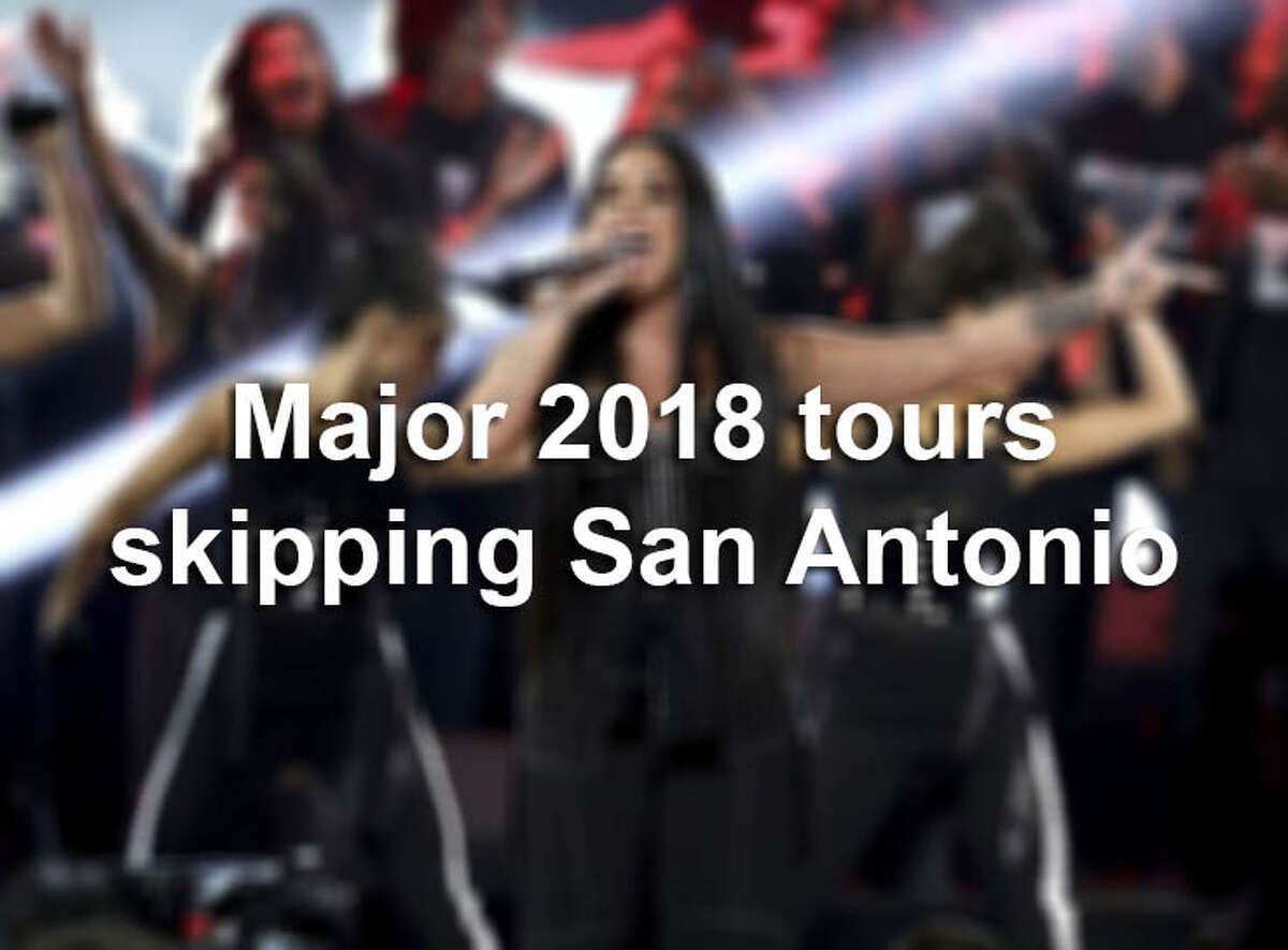 San Antonio had a good run of big concerts last year, with acts such as the Weeknd and Bruno Mars packing the AT&T Center. But a look at the biggest tours on the horizon for 2018 reveals a sadder song: Many are skipping San Antonio.