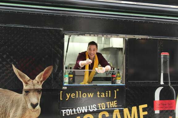 "Food Network star Jeff Mauro, co-host of ""The Kitchen"" is partnering with Yellow Tail Wine for Super Bowl sandwich ideas via the Yellow Tail Food Truck Tailgate Tour -- a food truck that will visit Houston Jan. 25 and 26."