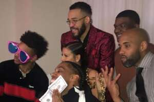 A party photo from JaVale McGee's 30th birthday.
