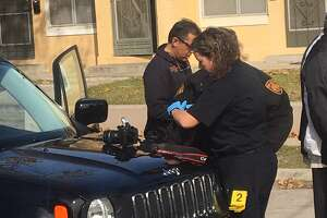 A man opened fire on two suspects alleged breaking into cars on San Antonio's west side on Tuesday, Jan. 23, 2018.