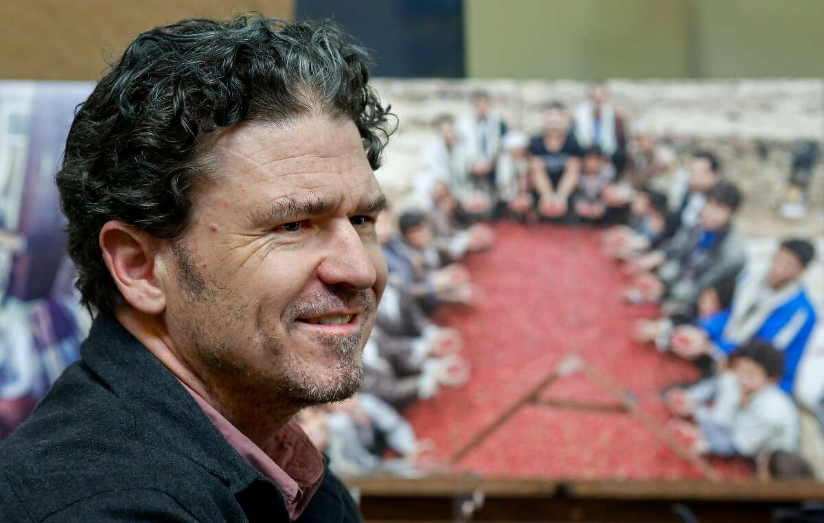"""Author David Eggers has written a new book, """"The Monk of Mokhtar"""", as seen on Tuesday, Jan. 16, 2018 in Oakland, Calif."""