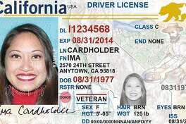 A facsimile of California's Real ID driver license