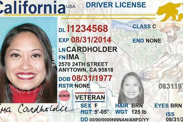 A facsimile of California's Real ID driver license
