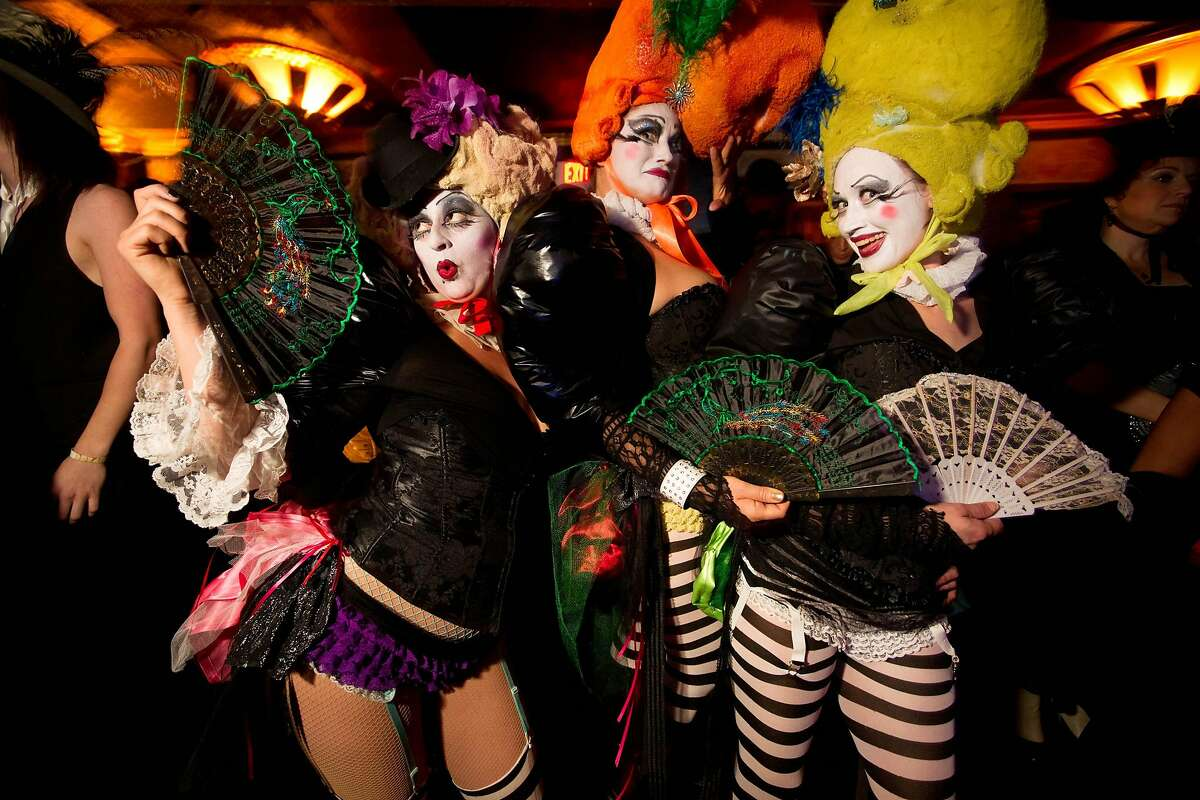 The costumes are never uninteresting, as seen in this file photo from the 2011 Edwardian Ball.