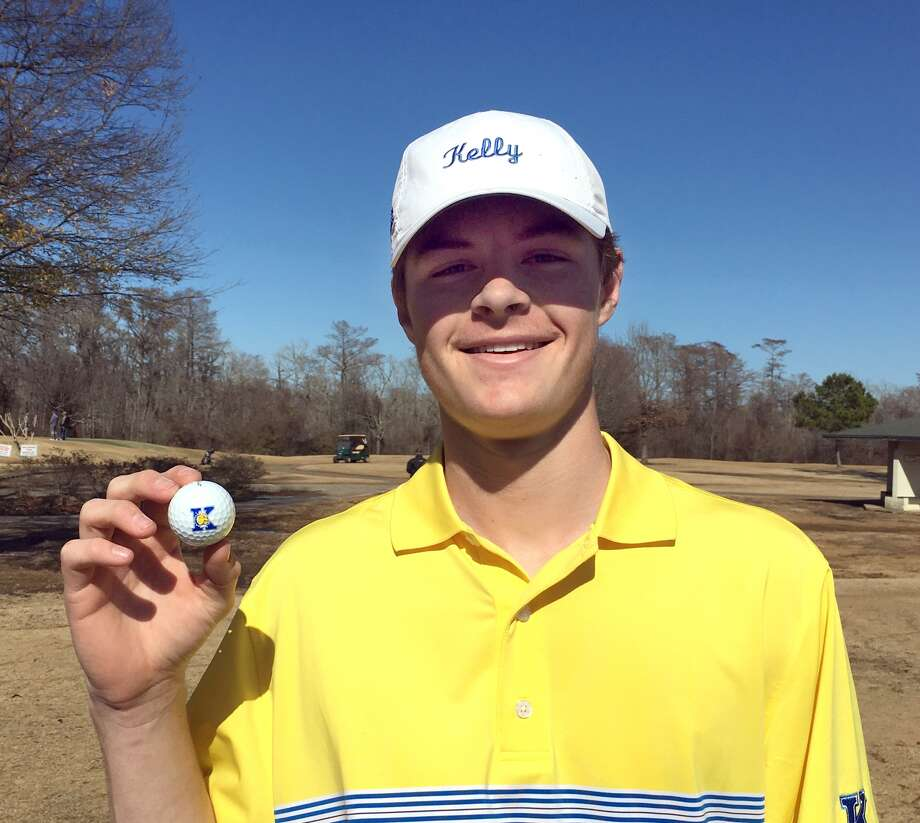 Kelly Catholic's Chris Phelan scored his first hole-in-one as the boys golf team competed Monday in the Hardin-Jefferson Hawk Invitational at the Beaumont Country Club Monday. Phelan's shot came on the Par 3 No. 10 hole from 145 yards out. He used a pitching wedge for the shot.