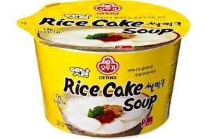 """Ottogi America, Inc. of Gardena, Calif., is recalling 6.40-ounce """"Rice cake soup"""" food, because it may contain undeclared milk. Photo courtesy of the U.S. Food and Drug Administration."""