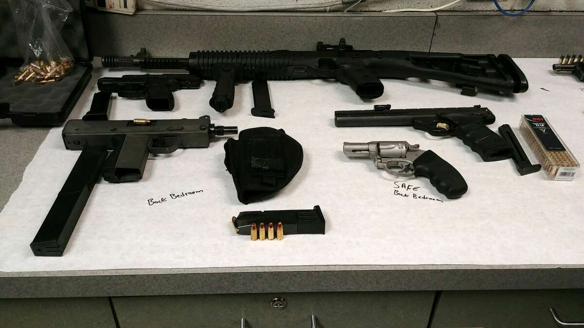 On Friday, police said authorities used a search warrant to raid a Linden Avenue residence where they found the marijuana, 62 grams of ketamine, four handguns, an assault rifle and a Mack-10 machine gun, along with about 150 rounds of ammunition. Authorities said they also confiscated $4,000.