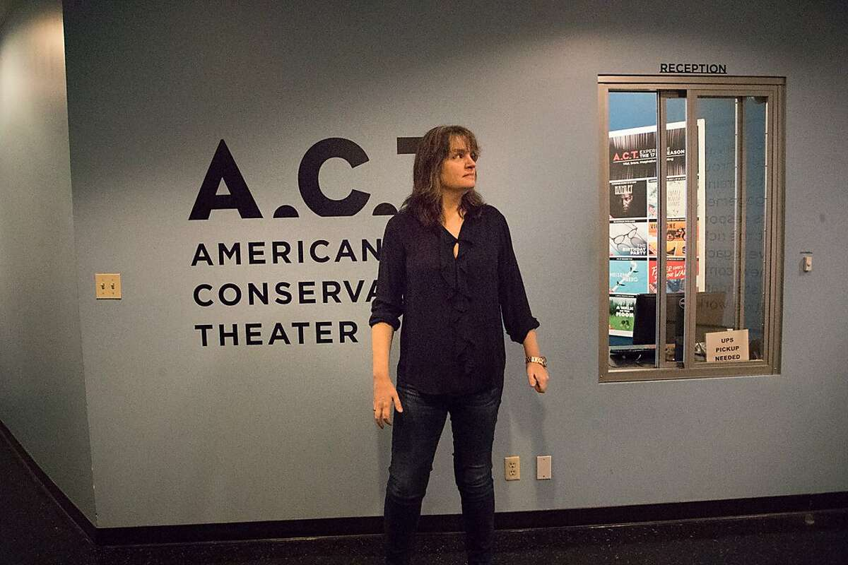 ACT's new artistic director, Tony winner Pam MacKinnon at ACT offices on Tuesday, Jan. 23, 2018 in San Francisco, CA.